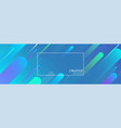 blue creative solutions banner with geometric vector image vector image