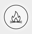 bonfire universal icon editable thin vector image