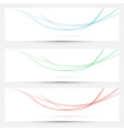 Bright web headers with smoke waves collection vector image vector image