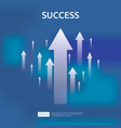 business growth arrows to success concept return vector image