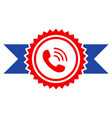 call center stamp with ribbons flat icon vector image