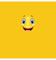 Cartoon cute yellow face smiling vector image