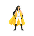 cartoon female superhero character vector image vector image