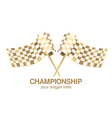 checkered flag racing gold vector image
