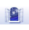 christmas snowfall merry christmas greetings card vector image vector image