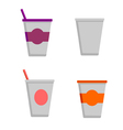 Coffee cups - styro cups vector image vector image