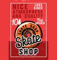color vintage skate shop banner vector image