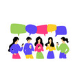 communicating people image is isolated on white vector image vector image