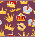 crown golden royal jewelry symbol king vector image