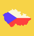czech republic set detailed country shape with vector image vector image