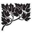 decorative leaves have dark pattern in this vector image vector image