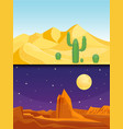 desert mountains sandstone wilderness landscape vector image