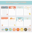 Easter greeting cards tags stickers and labels vector image