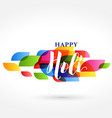 elegant happy holi indian festival banner design vector image