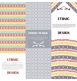 Ethnic design banners set vector image