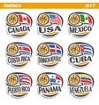 flags american national basketball teams vector image