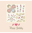 floral card birthday vector image vector image