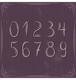 floral decorative borders and numbers on wooden ba vector image