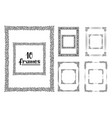 hand drawn frames isolated sketch black vector image