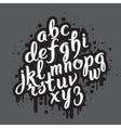 Handdrawn graffiti alphabet 01 vector image vector image