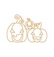Happy pumpkins Halloween design card template vector image vector image