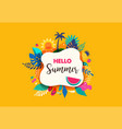 hello summer abstract background summer sale vector image vector image