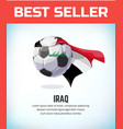 iraq football or soccer ball football national vector image