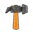 isolated hammer design vector image vector image