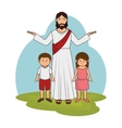 jesuschrist character religious icon vector image vector image