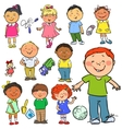 Kids Hand drawn clip-art vector image vector image