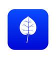 linden leaf icon digital blue vector image