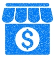 Market Building Grainy Texture Icon vector image vector image