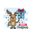 merry chirstmas traditional celebration event vector image