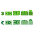 money paper dollar and euro in different vector image