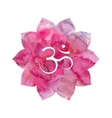 Om sign in lotus flower vector image vector image