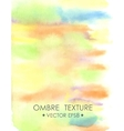 Ombre watercolor yellow Hand drawn ombre texture vector image