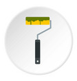 paint roller icon circle vector image vector image