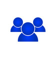 people blue icon vector image