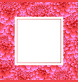 pink dahlia banner card vector image vector image