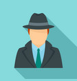 police detective icon flat style vector image vector image