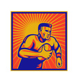 Retro rugby poster vector | Price: 1 Credit (USD $1)