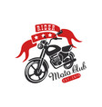 rider moto club logo est 1979 design element vector image vector image