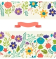 Romantic seamless pattern of various flowers in vector image vector image