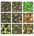 set camouflage patterns design element vector image