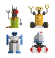set cute vintage robots vector image