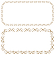 set of rectangular beautiful frames vector image vector image