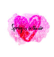 spring in the air beautiful card vector image vector image