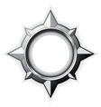 steel compass rose vector image vector image
