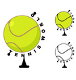Tennis world Game ball Globe Sports accessory as vector image vector image