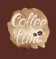 time for coffee vector image vector image